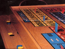 Slotted Minnesota Tri-Wheel table used for showing player bet intentions.